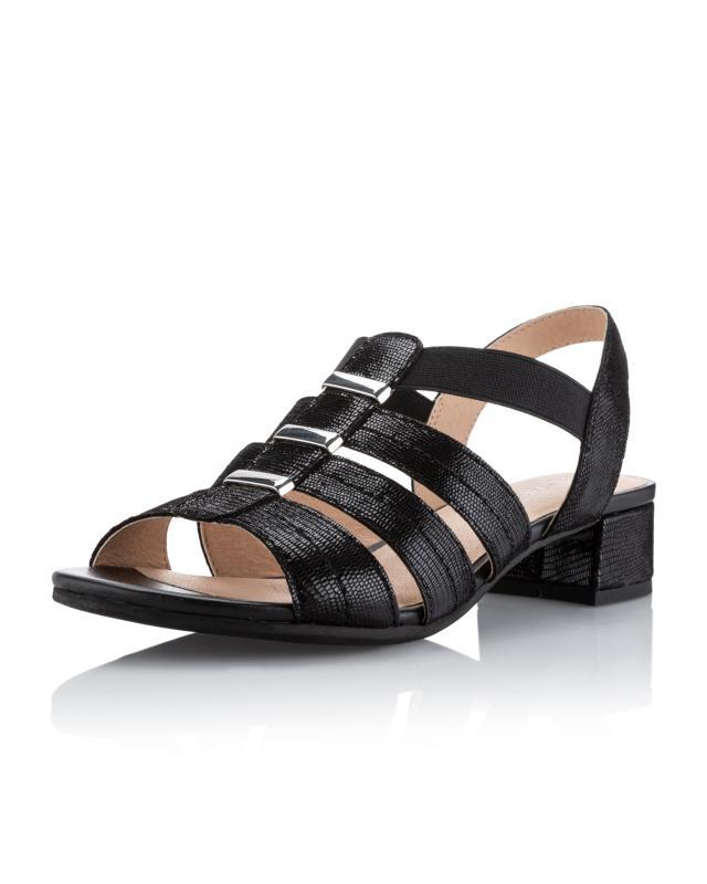 Sandalette aus Glanzleder