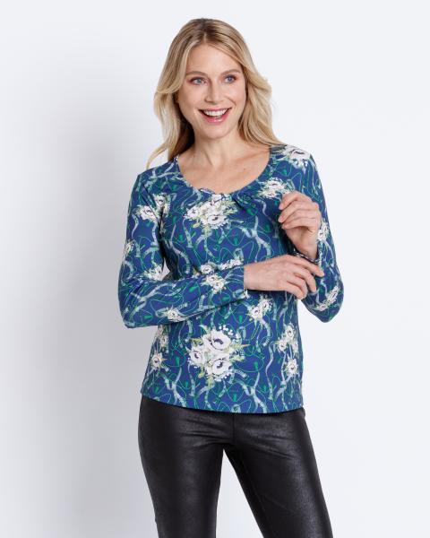 Shirt mit Ketten-Blumen-Druck