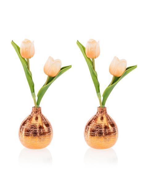2er Set Tulpen im Keramiktopf