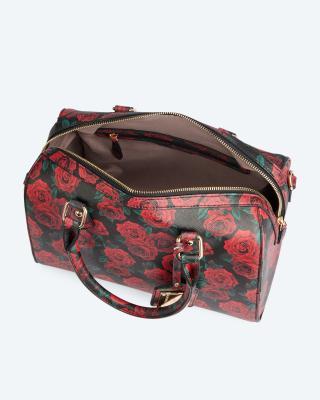 Bowlingtasche mit Blumendruck