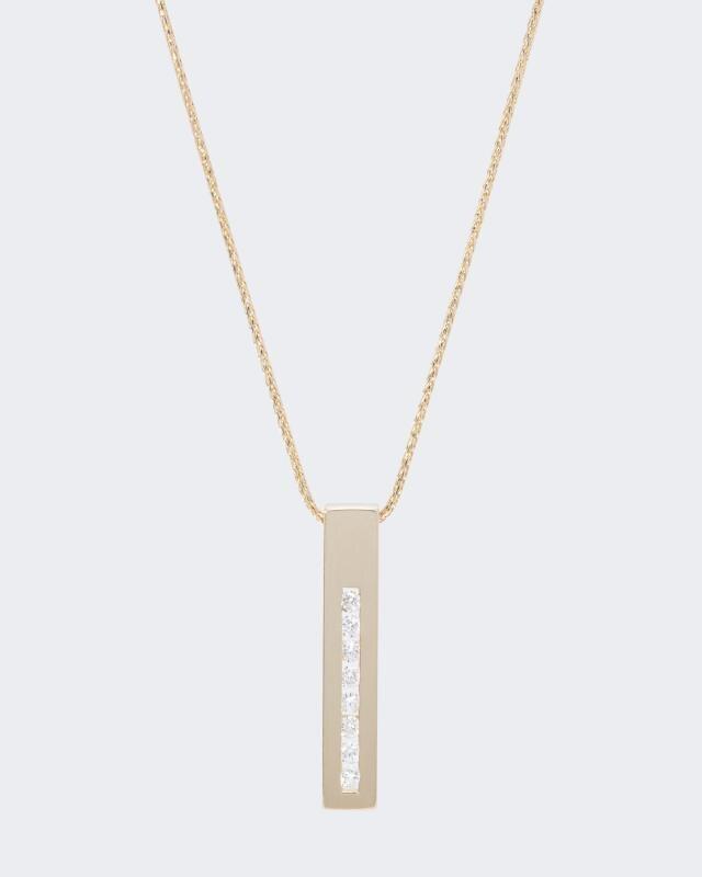 Halskette mit Brillant-Anhänger und 0,12 Karat