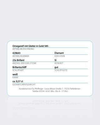 Omegareif mit Brillantgleiter 0,142 ct