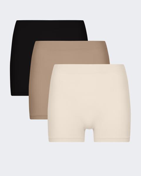 Seamless Hotpants, 3tlg.