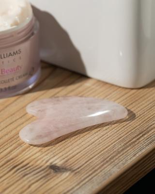 Massage-Herz aus Rosenquarz