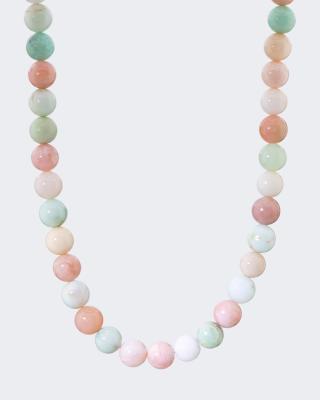 Collier mit Chrysopras & Pink Opal