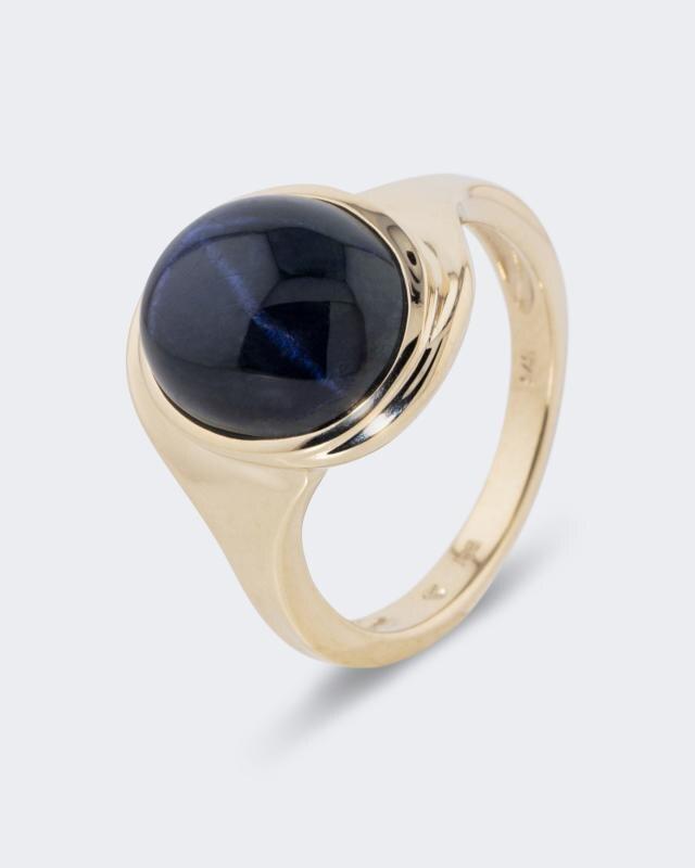 Champagne Topas Weißtopas Designer Ring 925er Sterlingsilber 58 18,4 mm Ø