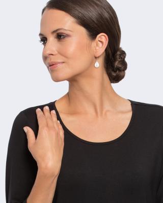 Ohrhänger Muschelkernperle 12 x 15 mm