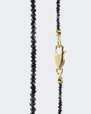 Collier mit schwarzen Diamanten und 14,0 Karat