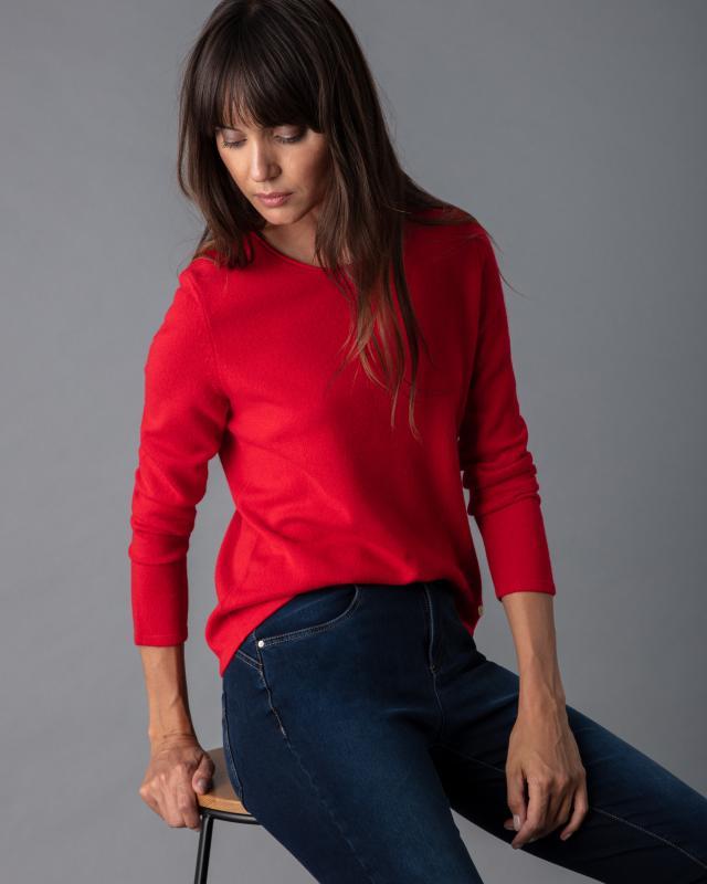 Basic-Pullover mit Rundhalsausschnitt