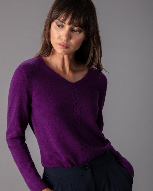My Cashmere Moments Pullover mit Zopfmuster