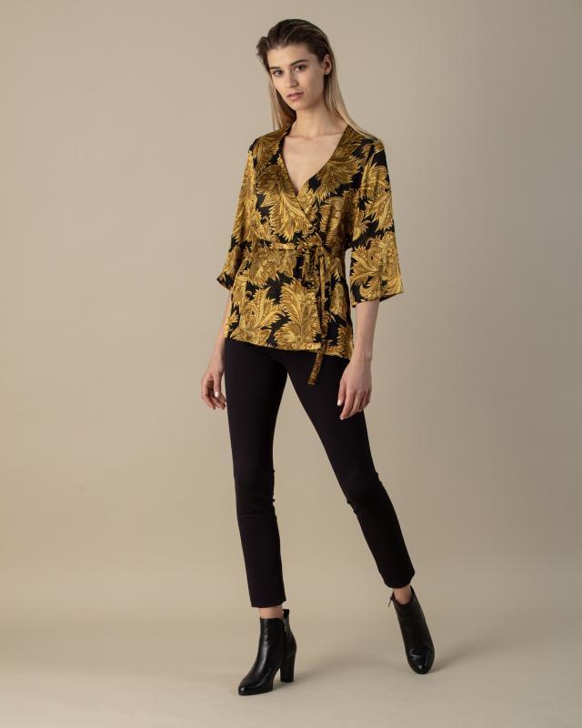 Alfredo Pauly Kimono-Blusenjacke im Ornament-Design | Bekleidung > Homewear | Alfredo Pauly