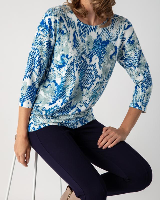 Image of Helena Vera Pullover mit Snakeprint