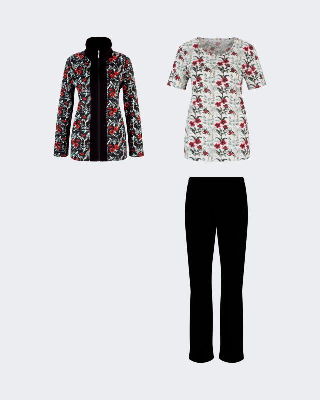 Joliena Collection Hausanzug, 3tlg. | Bekleidung > Homewear | Joliena Collection