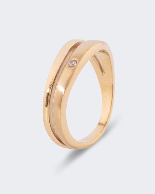 """Magnet-Ring """"polar stjärna"""" mit Swarovski Kristallen"""