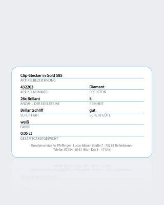 Clip-Ohrstecker 0,50 ct