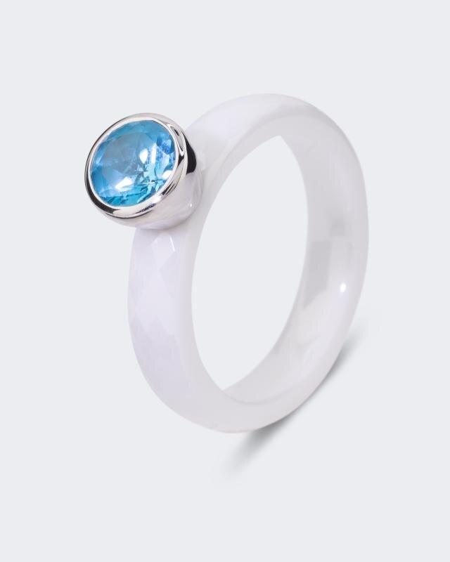 Keramik-Ring mit Edelstein