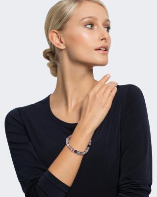 Armband mit Fluorit und Diamant-Deko