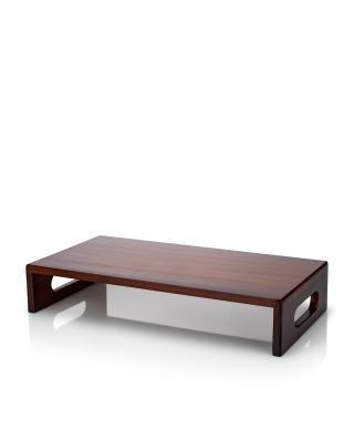 Sitz-u. Aufbewahrungshocker Holzablage