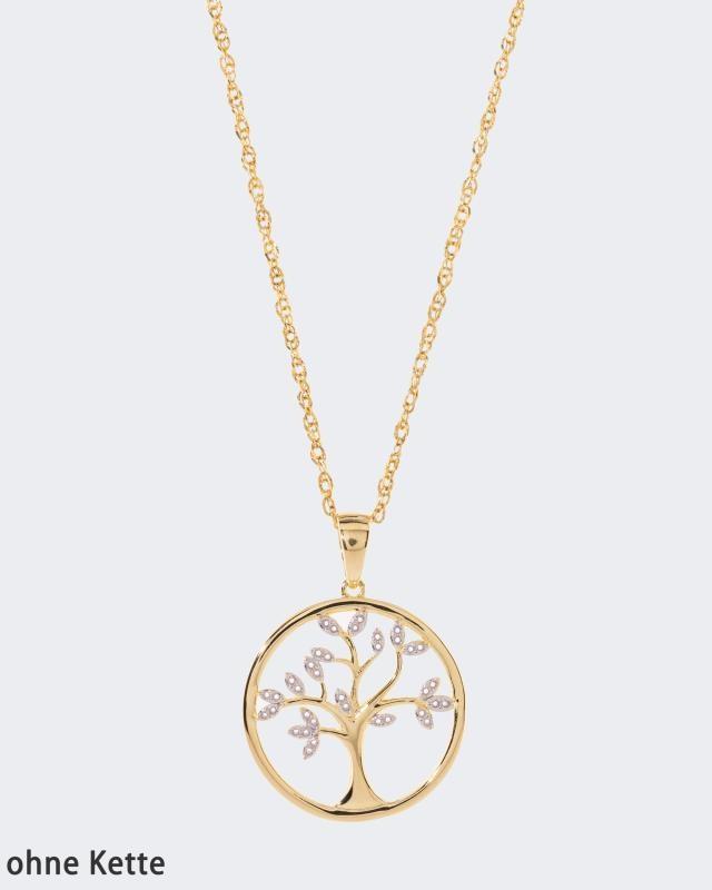 OK: Harry Ivens Diamant-Anhänger Baum 0,1
