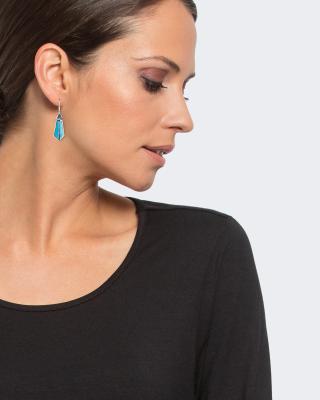 Ohrhänger mit Apatit und Emaille
