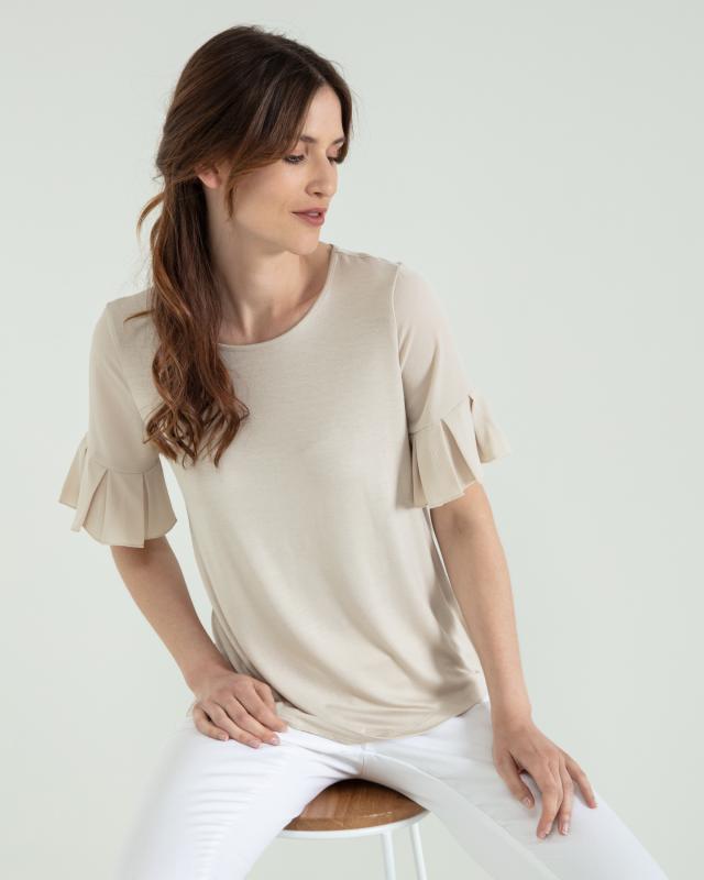 Shirt mit Volant-Ärmeln