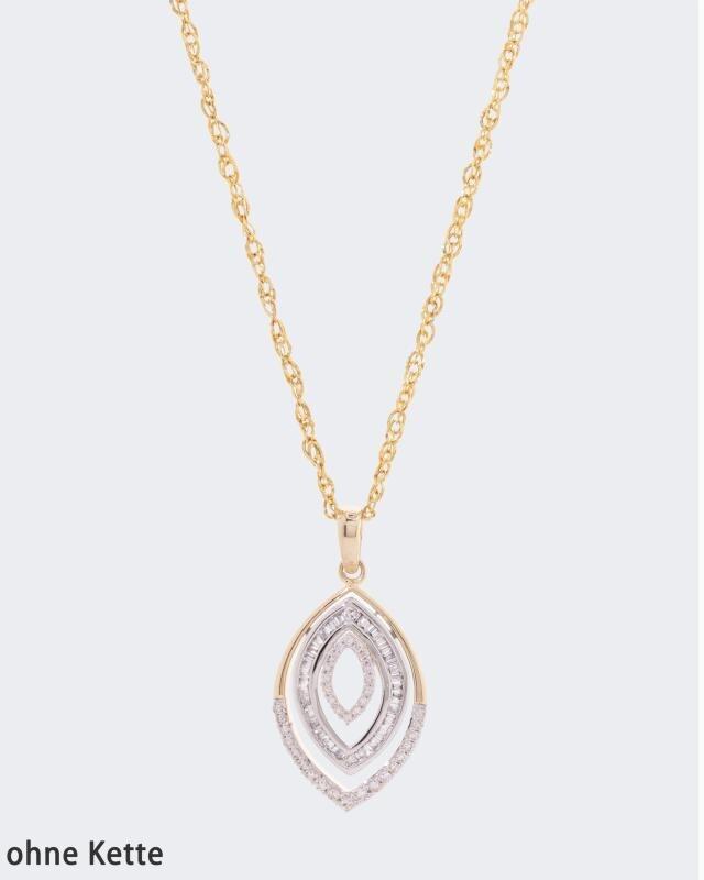 Diamantanhänger mit 0,25 Karat