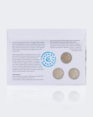 Triple Numisbrief L. da Vinci 2019