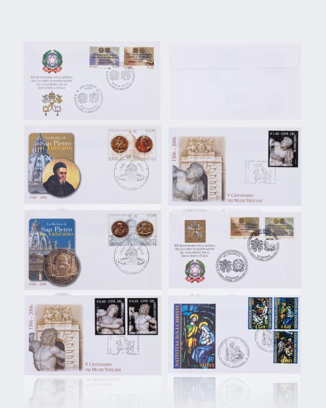 Sammlermünzen Reppa 7er-Set seltene Vatikanbriefe 2005 - 2006
