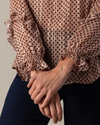 Bluse mit Krawattenmuster