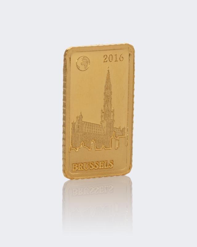 1 g Goldbarren Brüssel Rathaus