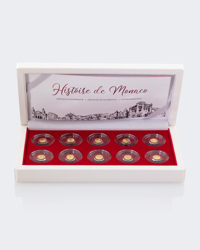 Gold-Set History of Monaco, 10tlg.