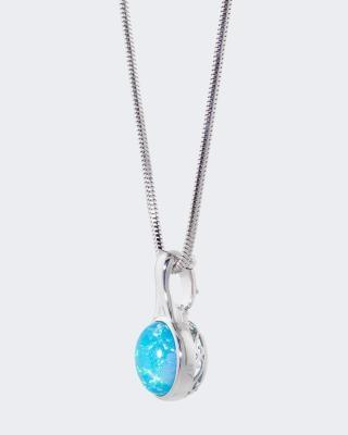 Clipanhänger mit Kristallopal