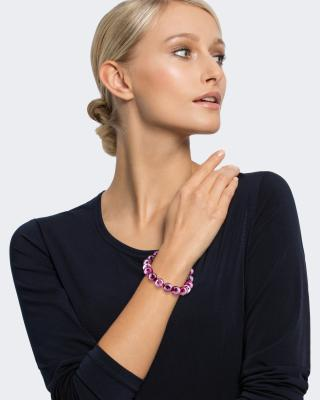 Armband mit Fuchsia Achat und Hämatit