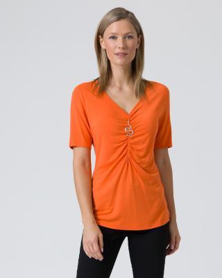 Shirt mit Brosche