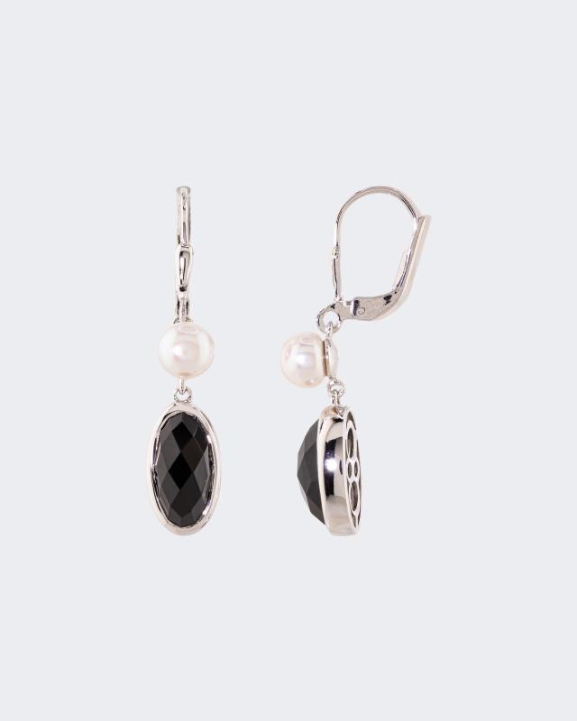 Ohrhänger mit Edelsteinen & Perlen