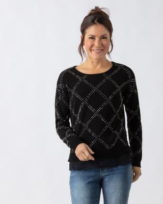 Pullover mit Nietendekoration