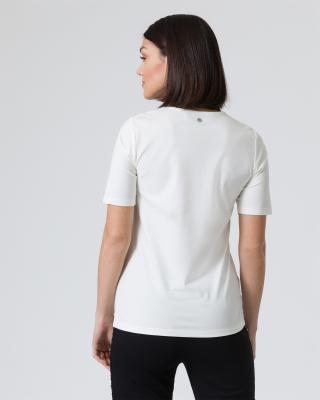 Shirt mit Strass-Fransen