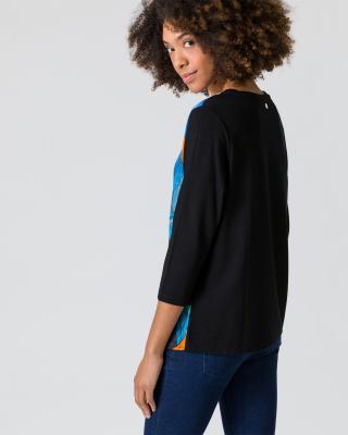 Shirt mit Seideneinsatz