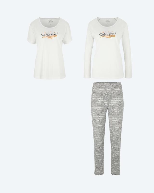 Set: Pyjama mit Shirt, 3tlg.