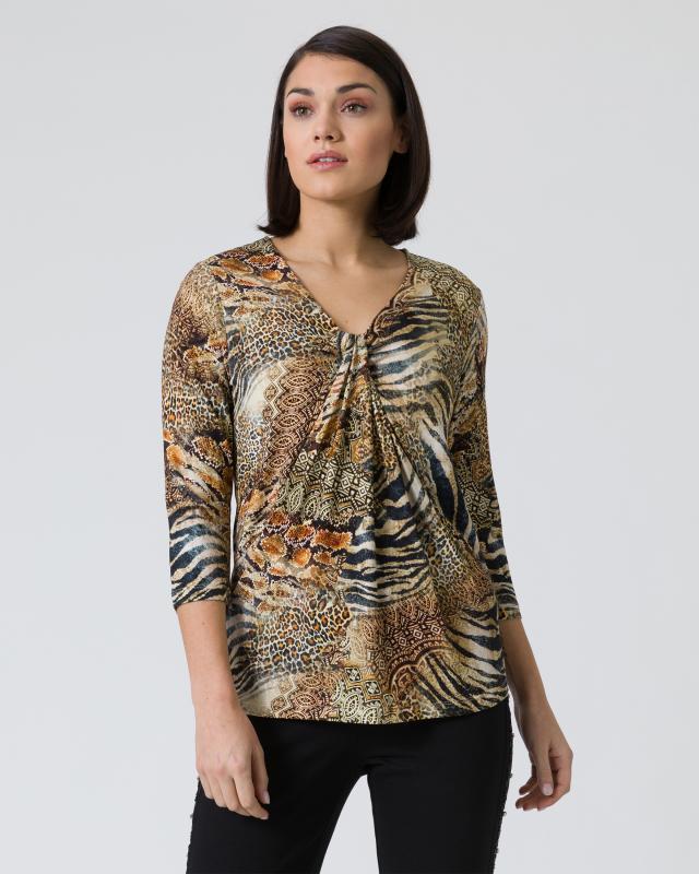 Shirt mit Animal-Druckmix