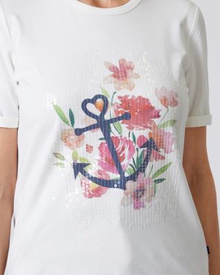 T-Shirt mit Sequin-Motiv