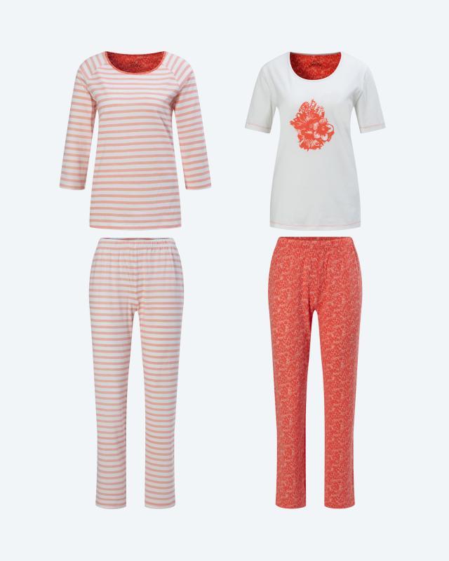 Pyjama im Doppelpack, 4tlg.