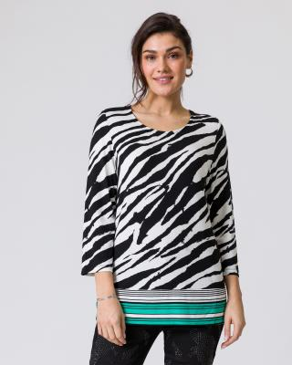 Shirt im Zebra-Look
