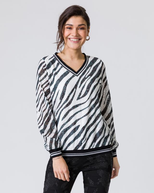 Shirt mit Zebraspitze