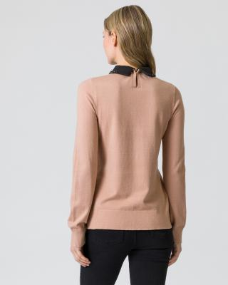 Pullover mit Blusenkragen