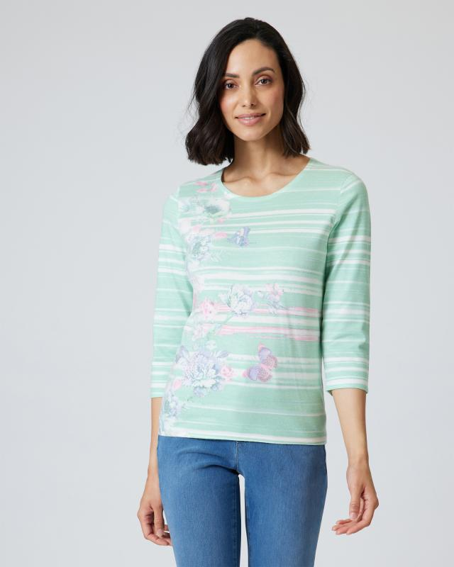 Soft Pullover mit Aquarellmalerei