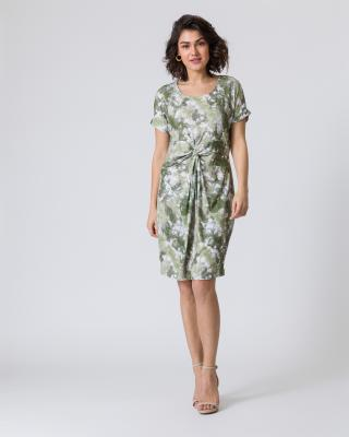 Sommerkleid mit Batik-Print im Safari-Look