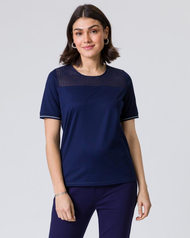 Shirt mit Broderie Anglaise