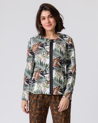 Jacke mit Blätterdruck