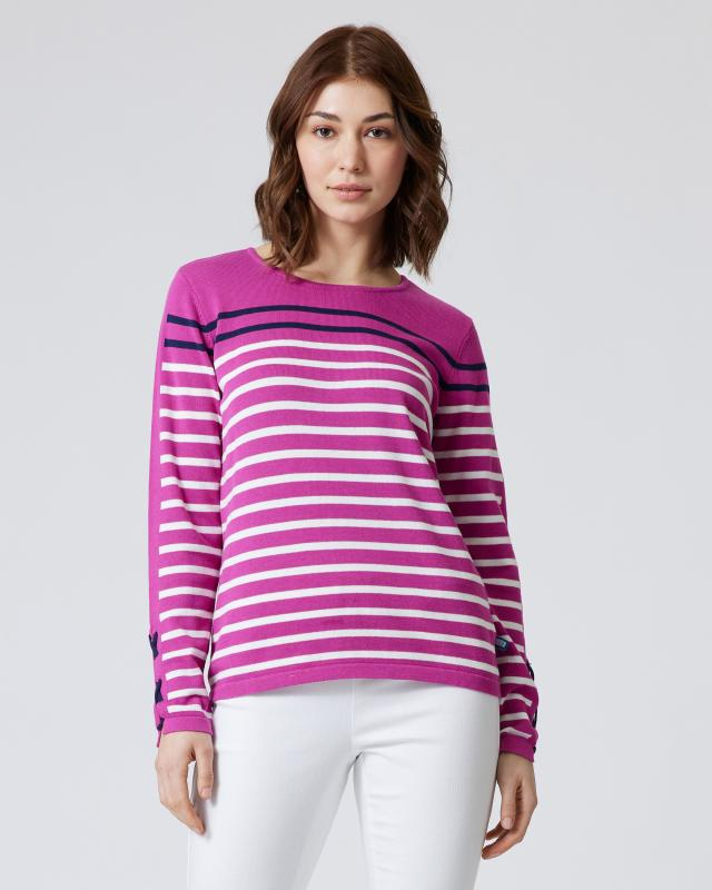 Pullover im Streifendesign